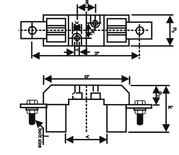 500 Volt Fuse-Bases - Type LSPN/DIN